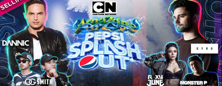 Pepsi Splash Out at Cartoon Network Amazone Pattaya - Saturday 16 Dec 2017 from 16:00 to 00:00