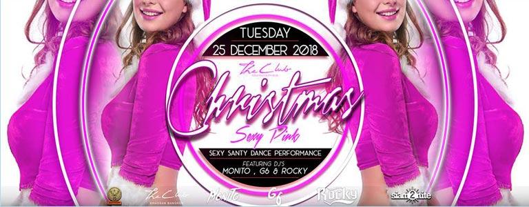 Sexy Pink Xmas Party at The Club Khaosan