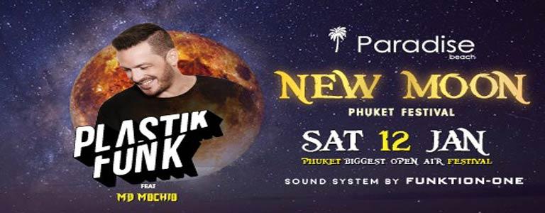 New Moon Festival w/ Plastik Funk at Paradise Beach