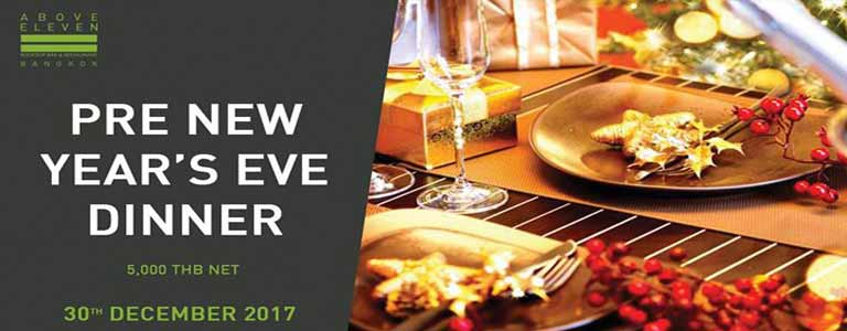 Pre-New Year's Eve Dinner at Above Eleven