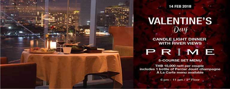 Valentine's Day at PRIME Hosted by Millennium Hilton Bangkok