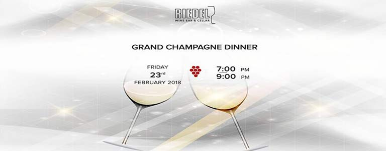Grand Champagne Dinner Hosted by Riedel Wine Bar & Cellar at Gaysorn Plaza