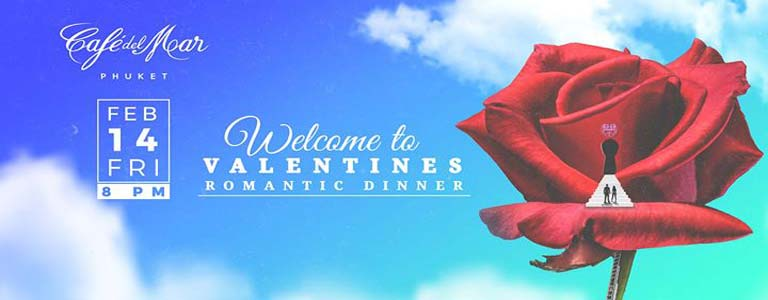 Valentines Romantic Dinner at Cafe del Mar Phuket