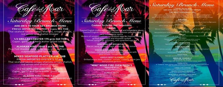Saturday Brunch at Café Del Mar Phuket