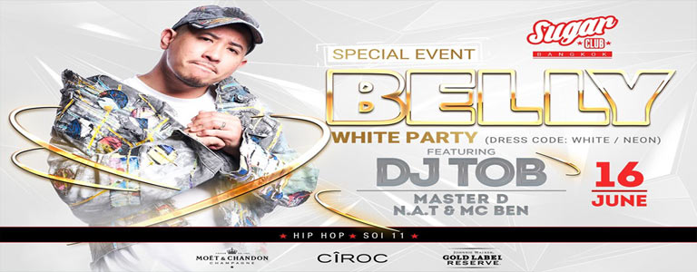 Sugar Presents: Belly with DJ TOB | Old School White Party