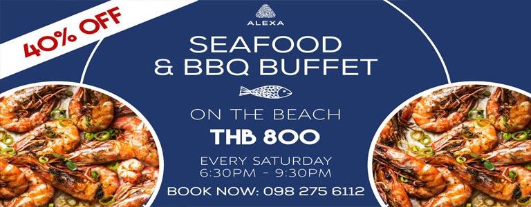 Saturday Seafood & BBQ Buffet on the Beach