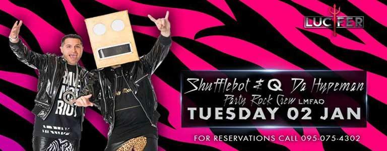 Shufflebot & Q Da Hypeman Live at Lucifer Disko Pattaya