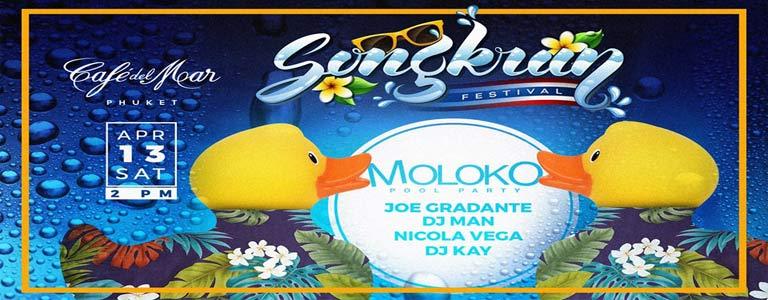 Songkran Pool Party at Café del Mar Phuket