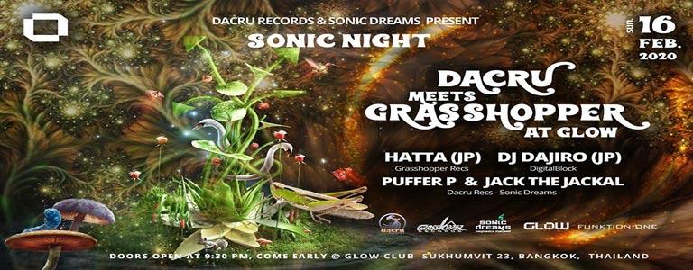 Sonic Night : Dacru meets Grasshopper