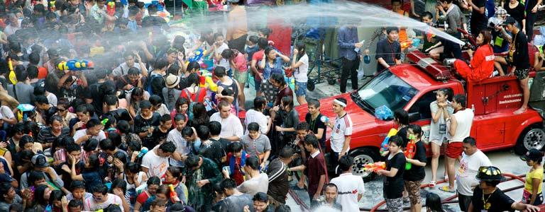 Songkran Celebrations in Bangkok