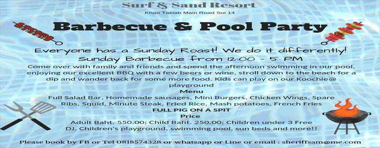 Pool Party & BBQ at Surf & Sand Resort