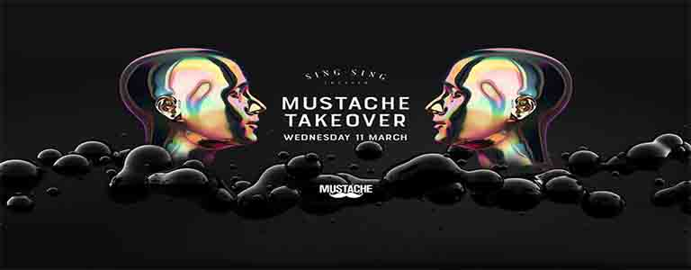 Mustache Takeover at Sing Sing Theater   Black Edition
