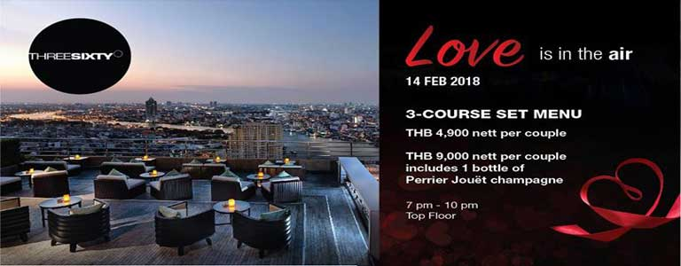 Valentine's Day at ThreeSixty Rooftop Hosted by Millennium Hilton Bangkok