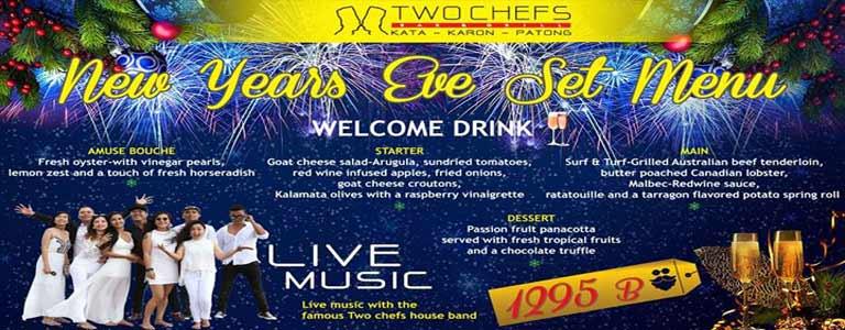 New Year Celebrations at Two Chefs Bar & Grill, Karon Beach Phuket