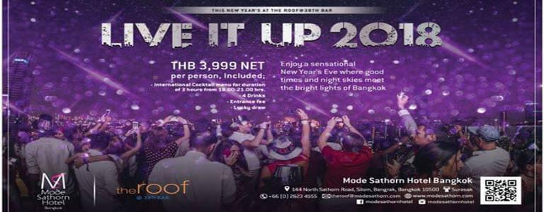 Live It Up 2018 at The Roof@38th Hosted by Mode Sathorn Hotel Bangkok