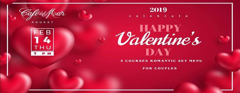 Valentine's Day Romantic Set Dinner at Cafe del Mar Phuket