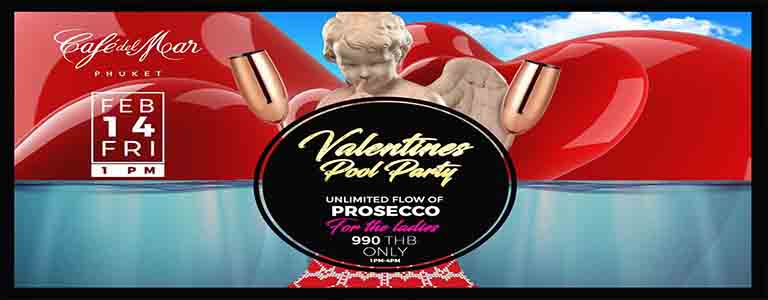 Valentine's Day Pool Party at Café del Mar