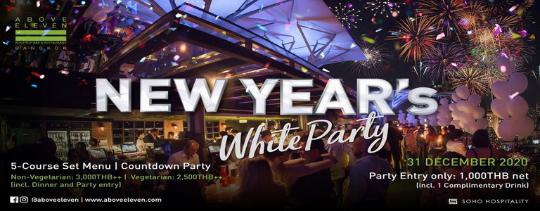 New Year's Eve White Party | Welcoming 2021!