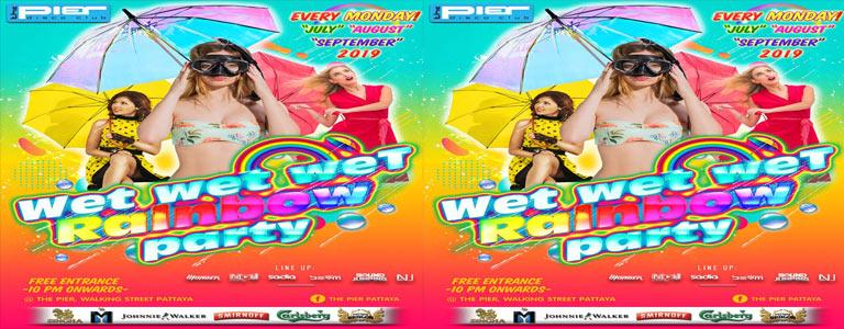 Wet wet weT Rainbow Party at Pier