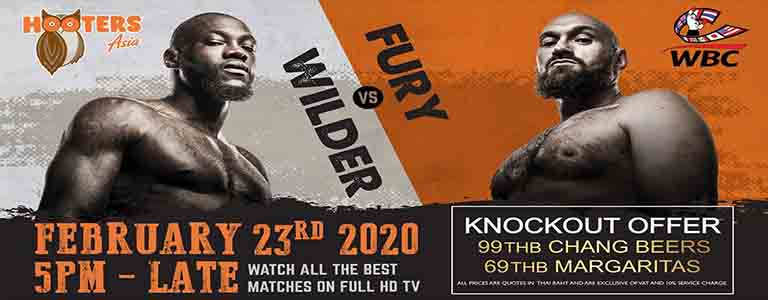 Wilder vs Fury at Hooters Pattaya