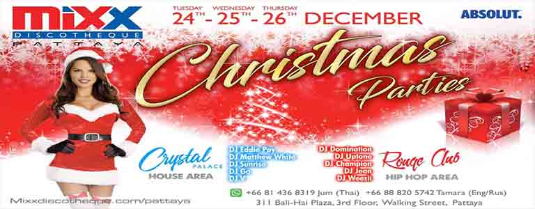 Mixx Pattaya Xmas Parties