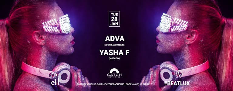 Yasha F b2b Adva at Catch Beach Club