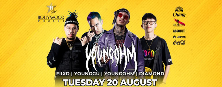 Young Ohm Live Performance at Hollywood Phuket