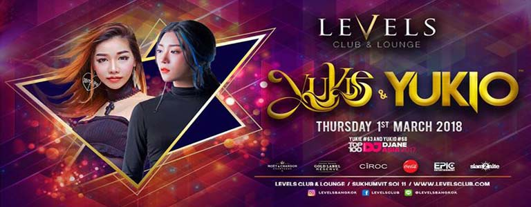 YUKIE & YUKIO at Levels Club & Lounge Bkk