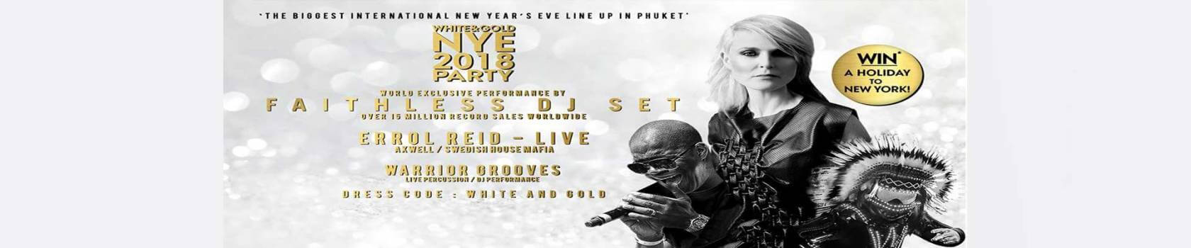 White & Gold NYE Countdown Party at Dream Beach Club