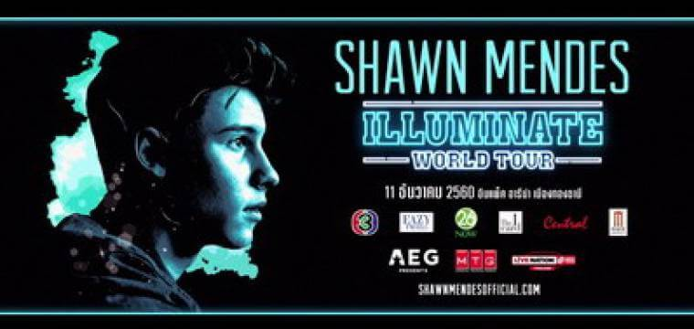 Shawn Mendes Illuminate World Tour 2017 Bangkok
