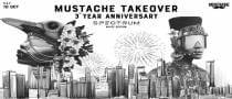 Mustache Takeover Spectrum 3rd Year Anniversary | White Edition
