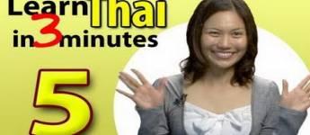 Learn Thai, Lesson 5