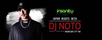 Japan Nights with DJ Noto at Insanity