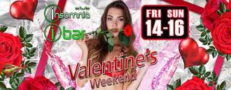 Club Insomnia & Ibar pres, Valentine's Weekend