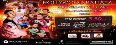 Hollywood Pattaya Anniversary 22nd Years