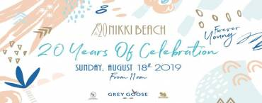 20 Years of Celebration: Amazing Sundays Brunch at Nikki Beach