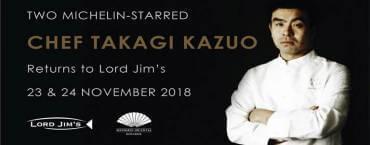 Chef Takagi Kazuo at Lord Jim's