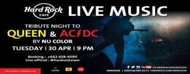Queen & AC/DC Tribute Night at Hard Rock Cafe Bangkok
