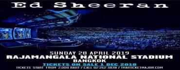 Ed Sheeran Divide World Tour 2019 in Bangkok